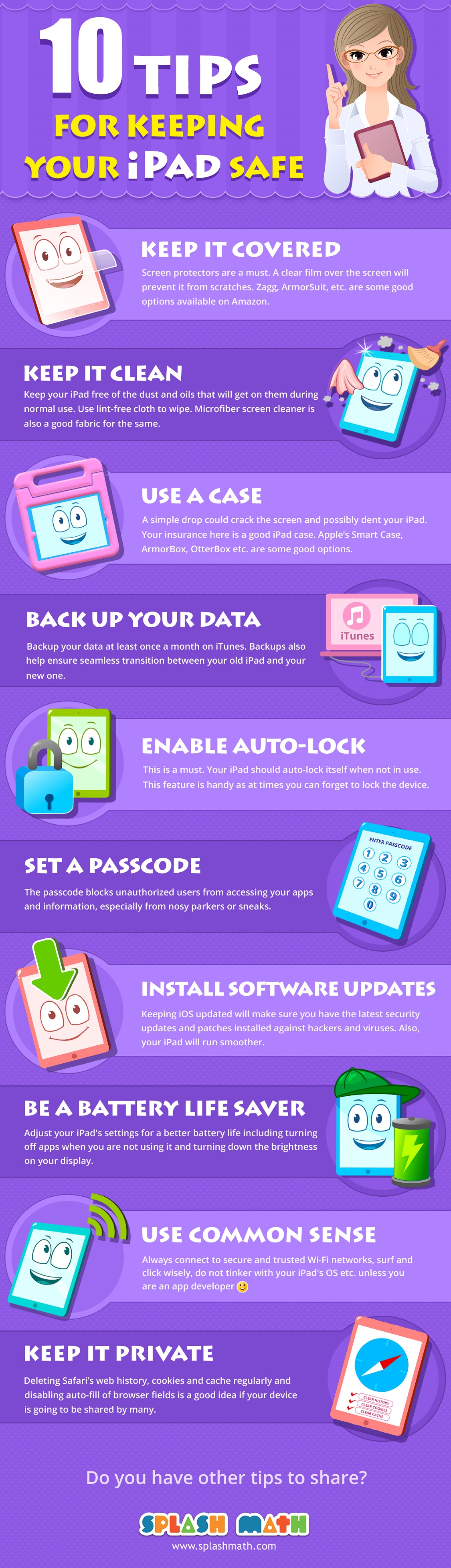 10 Tips for Keeping Your iPad Safe - Infographic
