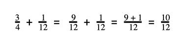 adding the numerators