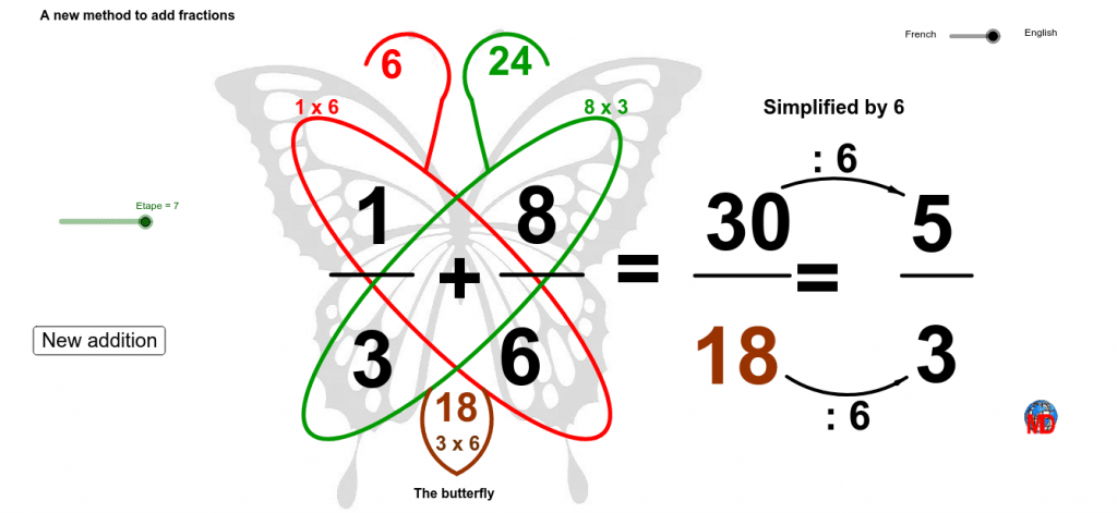 Butterfly method to add/subtract fractions