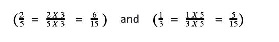 Common denominator for subtraction