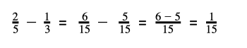 Subtraction in fraction
